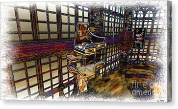 Canvas Print featuring the digital art The Concertroom by Susanne Baumann