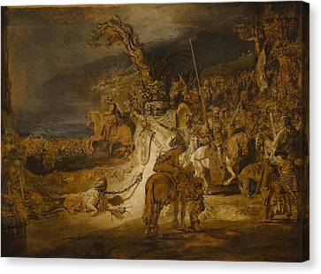 The Concord Of The State Canvas Print by Rembrandt van Rijn