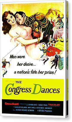 The Congress Dances, Aka Congress Canvas Print by Everett