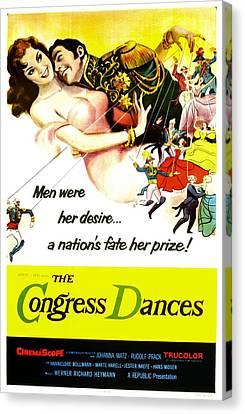1950s Poster Art Canvas Print - The Congress Dances, Aka Congress by Everett