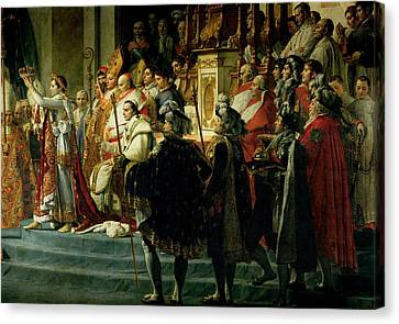 The Consecration Of The Emperor Napoleon 1769-1821 And The Coronation Of The Empress Josephine Canvas Print