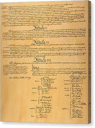 The Constitution, 1787 Canvas Print by Granger