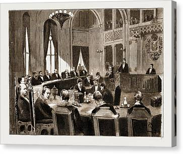 The Constitutional Crisis In Norway, 1883 View Of The Court Canvas Print