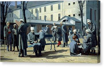 The Convalescents, 1861 Oil On Canvas Canvas Print by Marie Francois Firmin-Girard