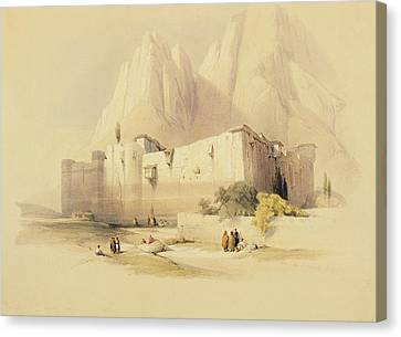 The Convent Of St. Catherine Canvas Print by David Roberts