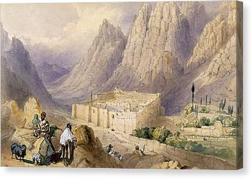 Goat Canvas Print - The Convent Of St. Catherine, Mount by William Henry Bartlett