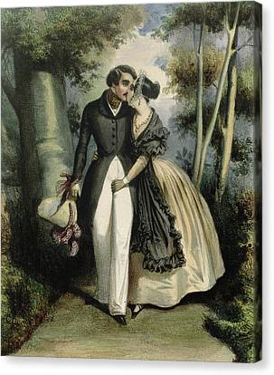 Dresses Canvas Print - The Conversation by French School