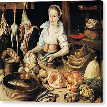 The Cook Canvas Print by Pieter Cornelisz van Rijck