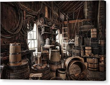 The Coopers Shop - 19th Century Workshop Canvas Print