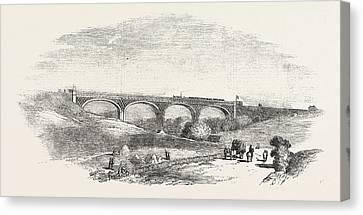 Cork Canvas Print - The Cork And Bandon Railway, The Chetwood Viaduct by Irish School
