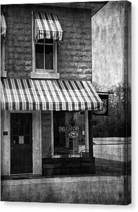 The Corner Deli Canvas Print by Kim Hojnacki