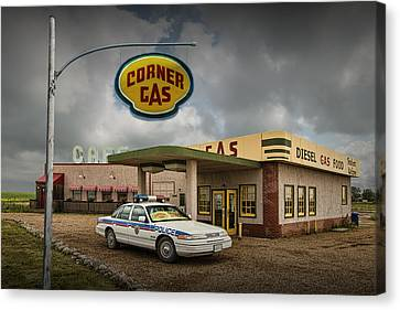 The Corner Gas Station From The Canadian Tv Sitcom Canvas Print by Randall Nyhof