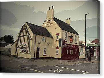 The Corner Pin Public House In, The Gable-end Visible Here Canvas Print by Litz Collection