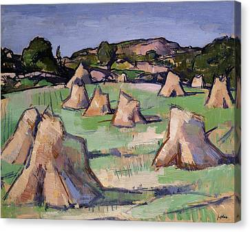 Bales Canvas Print - The Cornfield, Douglas Hall, 1919 by Samuel John Peploe