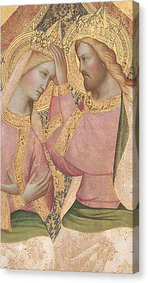 The Coronation Of The Virgin Canvas Print by Agnolo Gaddi