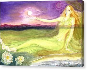 The Cosmic Consciousness Canvas Print by Shiva  Vangara