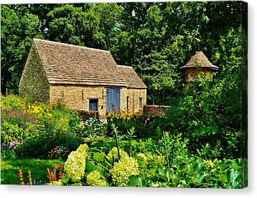 The Cotswald Barn And Dovecove Canvas Print