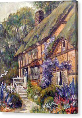 The Cottage Canvas Print by Donna Tucker