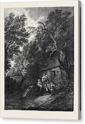 The Cottage Door Canvas Print by Gainsborough, Thomas (1727-88), English