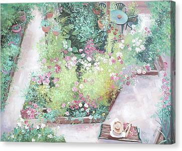 The Cottage Garden Canvas Print by Jan Matson