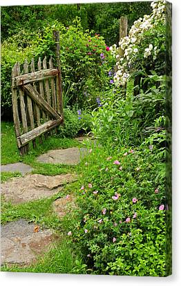 The Cottage Garden Walkway Canvas Print by Thomas Schoeller
