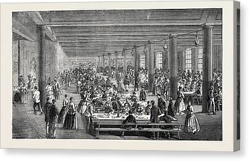 The Cotton Famine Working Mens Dining Hall Gaythorn Cooking Canvas Print