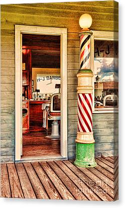 Barberchairs Canvas Print - The Country Barber by Paul Ward