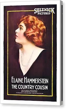 The Country Cousin, Elaine Hammerstein Canvas Print