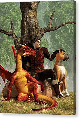 The Courageous Hunters Canvas Print