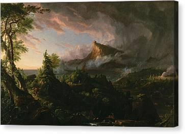 The Course Of Empire The Savage State  Canvas Print by Thomas Cole