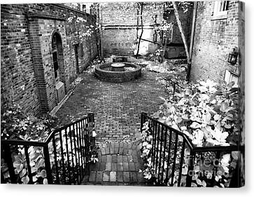 The Courtyard At The Old North Church Canvas Print by John Rizzuto