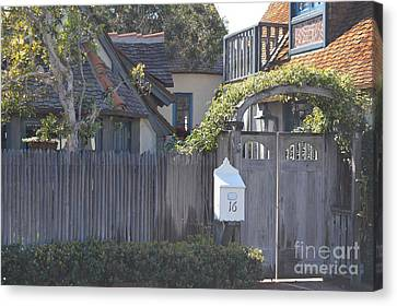 Canvas Print featuring the photograph The Courtyard  by Laurie Lundquist