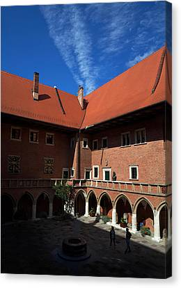 The Courtyard Of 15th Century Canvas Print by Panoramic Images