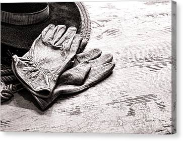 The Cowboy Gloves Canvas Print by Olivier Le Queinec