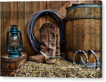 The Cowboy Canvas Print by Paul Ward