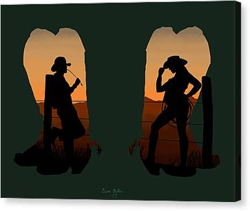 The Cowboy Way 2.. Nice Boots Canvas Print by Brien Miller