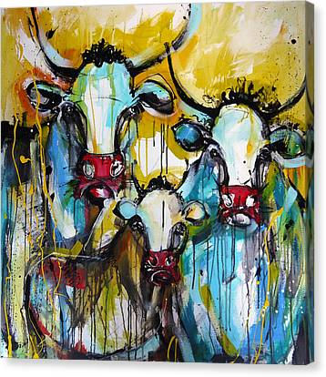 The Cows Are Back Canvas Print