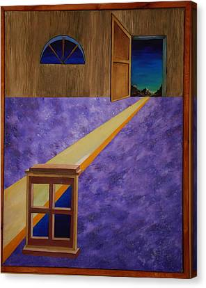 Canvas Print featuring the painting The Crack Of Dawn by Stuart Engel
