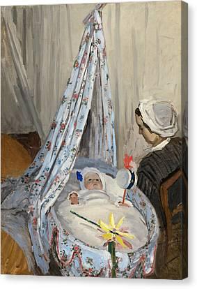 The Cradle Canvas Print by Claude Monet