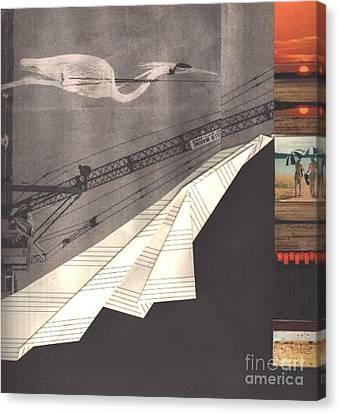 The Crane Canvas Print by Elena Fattakova