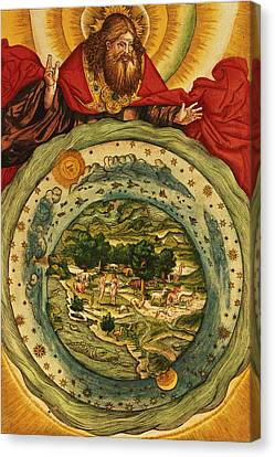 The Creation, From The Lutheran Bible Canvas Print by German School
