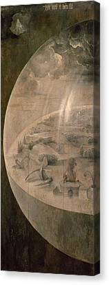 The Universe Canvas Print - The Creation Of The World by Hieronymus Bosch
