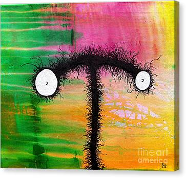The Creatures From The Drain Painting 3 Canvas Print by Brandon Lynch