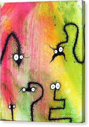 The Creatures From The Drain Painting 8 Canvas Print by Brandon Lynch