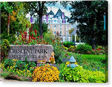 The Crescent Hotel In Eureka Springs Arkansas Canvas Print