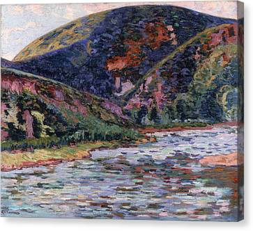 The Creuse In Summertime Canvas Print by Jean Baptiste Armand Guillaumin