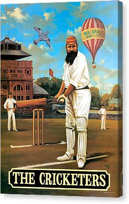 The Cricketers Canvas Print