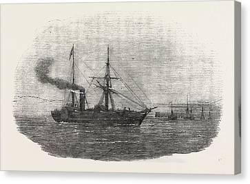 The Crimean War The Europa Steamship Leaving Kingstown Canvas Print