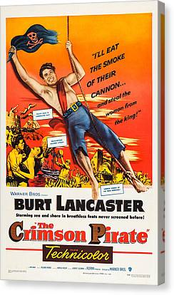 The Crimson Pirate, Us Poster Art, Burt Canvas Print by Everett