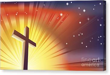 Sun Rays Canvas Print - The Cross by Christos Georghiou